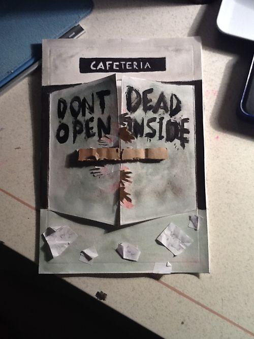 Walking Dead Zombie Birthday Card