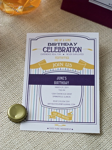 Birthday Invitations Google Docs