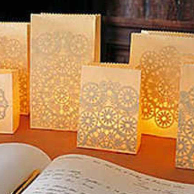 Fall Wedding Luminary Bags
