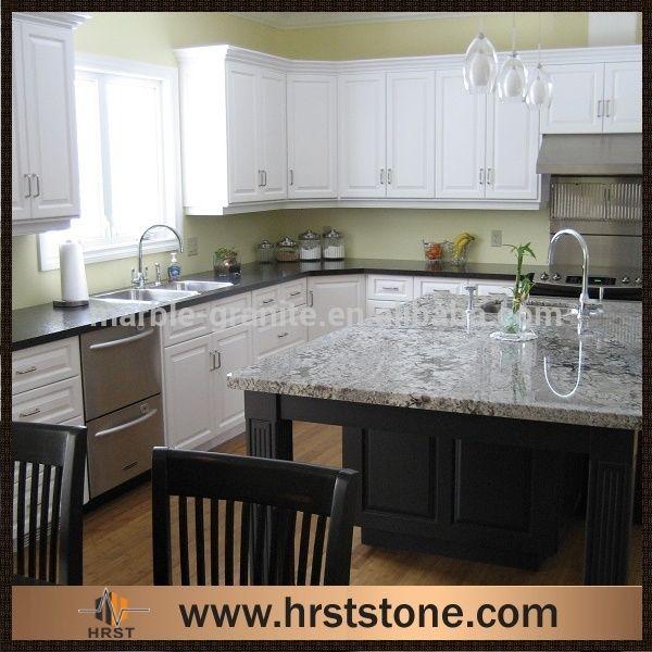 Crema Atlantico Granite Countertop With Espresso Cabinet