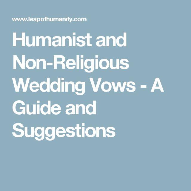 Non Religious Wedding Vows
