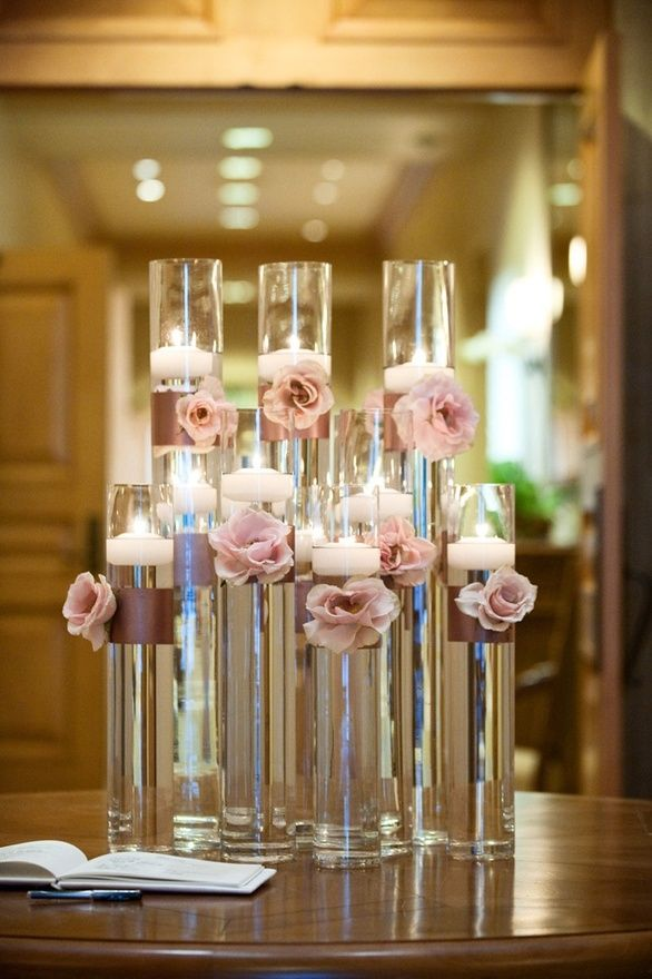 Aisle Decor Candles And Rose Petals