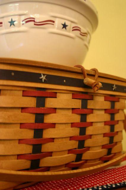 Patriotic Longaberger Baskets