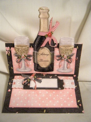 Handmade Greeting Card 3d Champagne Quot Always Amp Forever