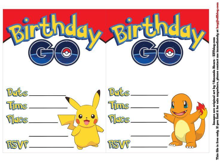 Printable Pokemon Invitations