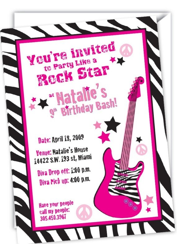 Printable Rockstar Invitations