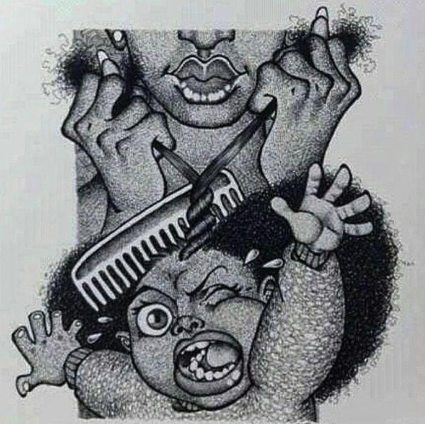 Afro Hair Cartoon Nappy