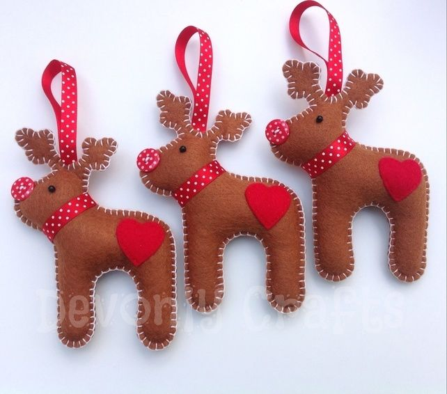 Templates Ornament Reindeer Felt
