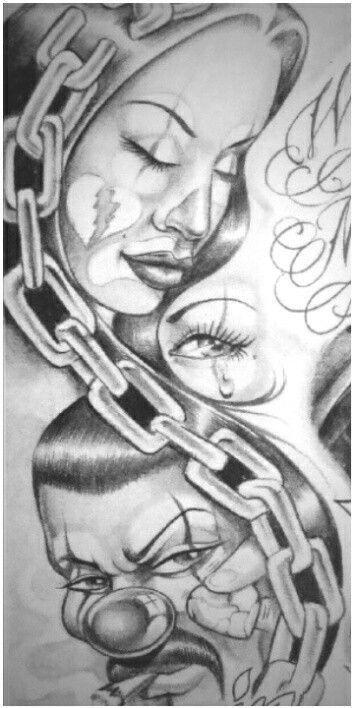 Drawings Tattoos School Gangster Old