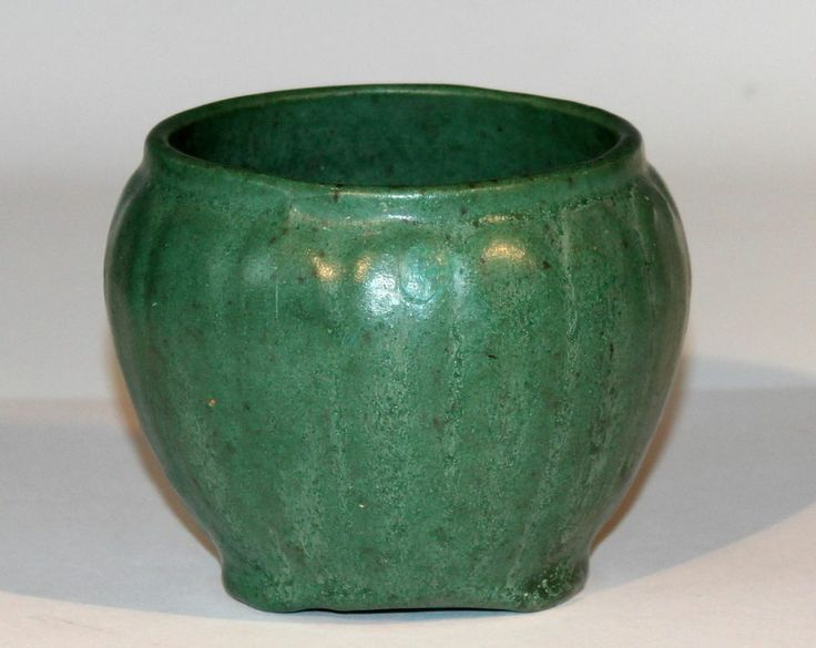 Antique Weller Pottery Green Drip Glaze Vase