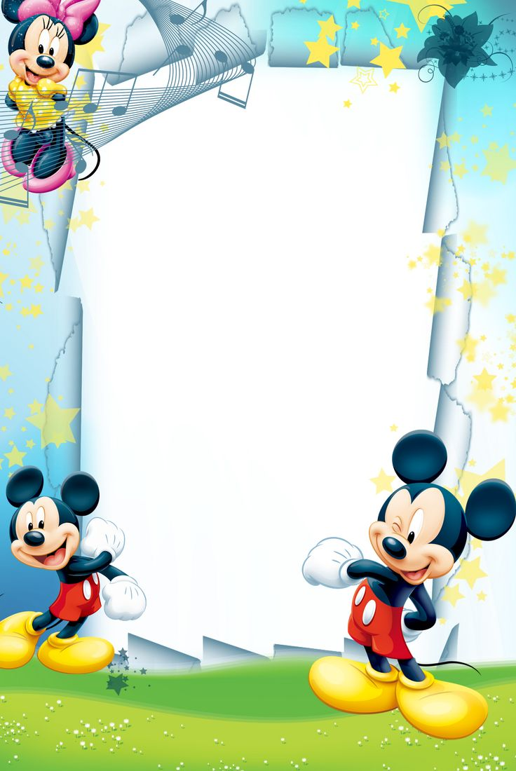 Border Invitations Baby Mouse Minnie