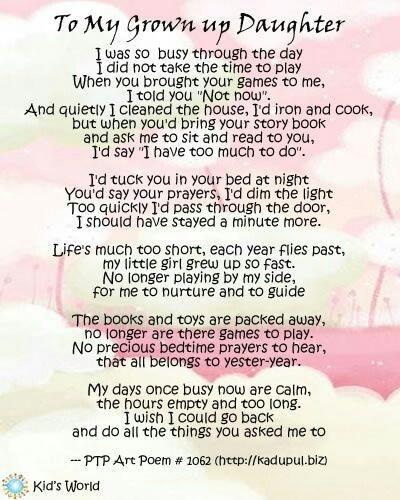 Birthday Grown Poem Daughter