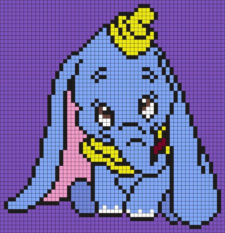 Minecraft Pixel Art Templates Disney