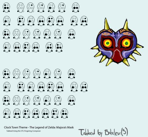 6 Hole Ocarina Tabs Zelda