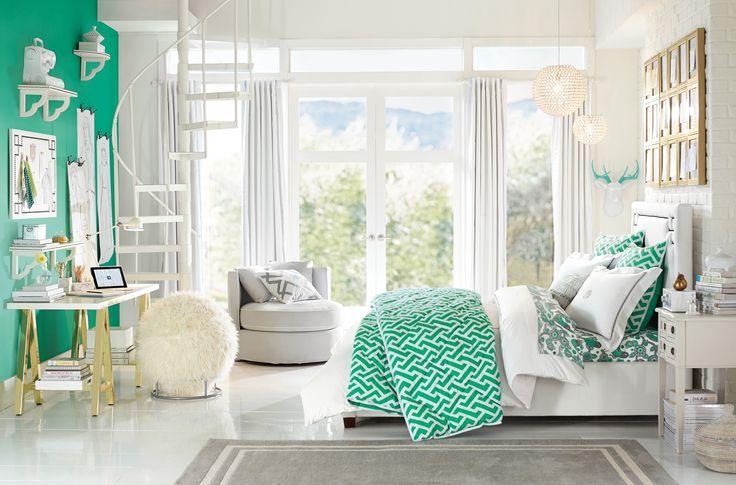 White Shower Curtain Monogram