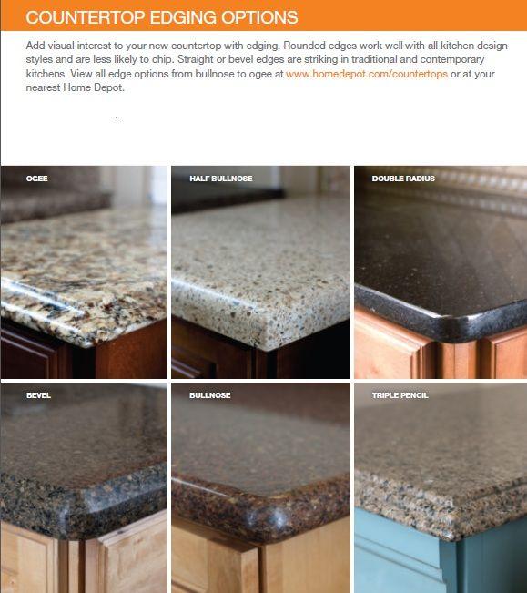 Countertop Kitchen Quartz Options Edge