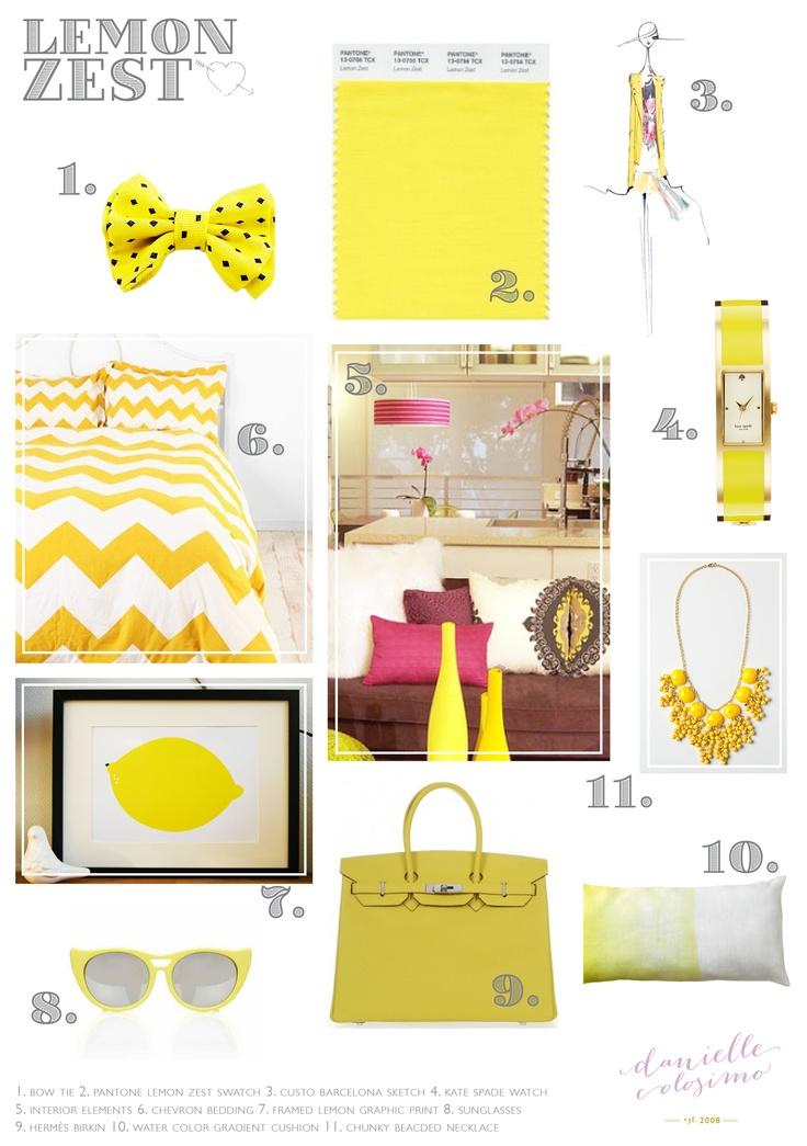 Lemon Zest Pantone Color