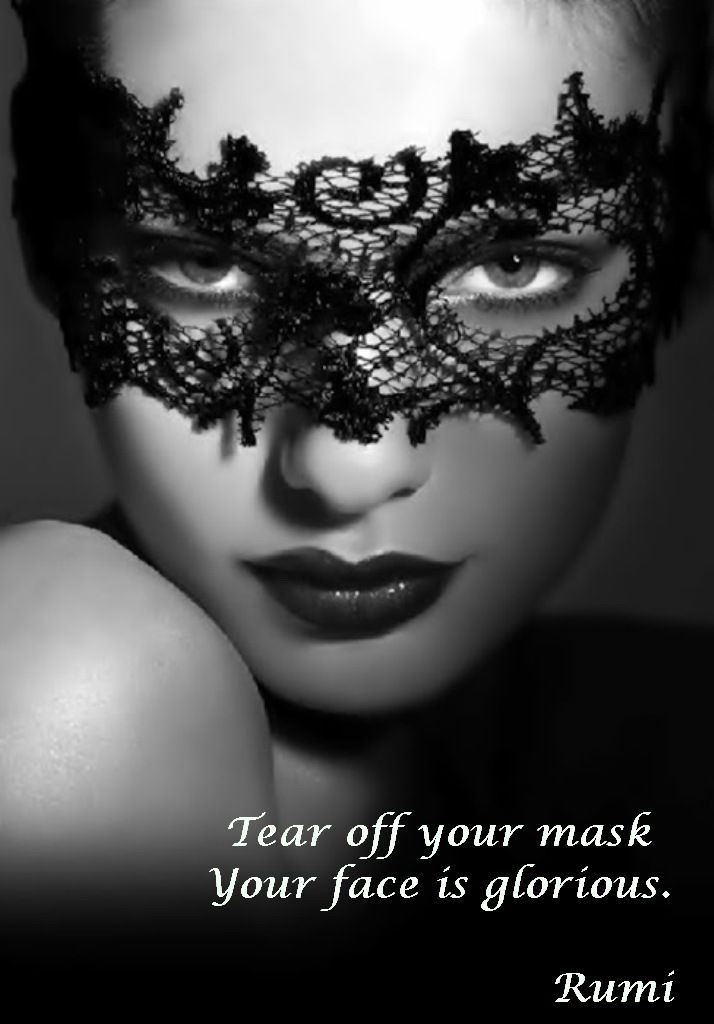 Mask Poem Behind Face