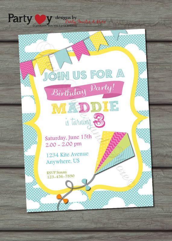 Printable Kite Invitations