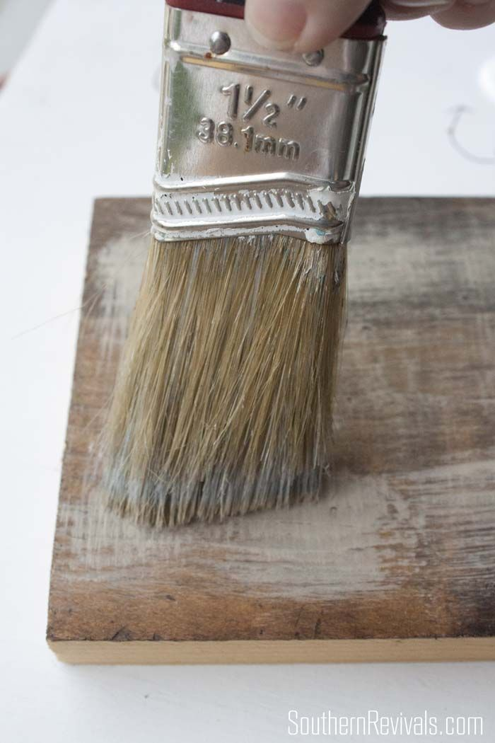 Faux Driftwood Restoration Hardware Inspired Paint Finish