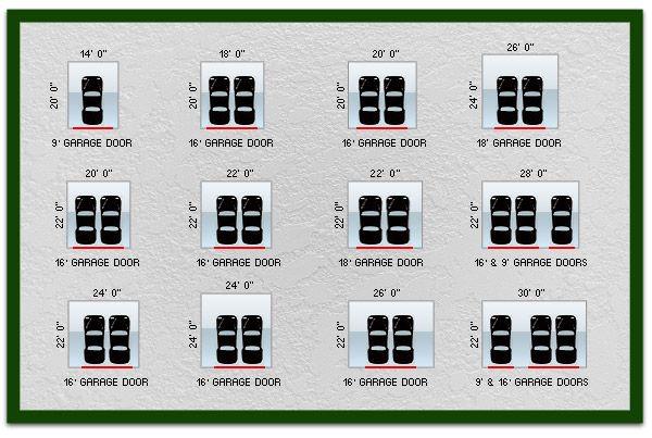 Average 2 Car Garage Dimensions Chicagoland Garage