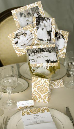 50th Wedding Anniversary Table Decorations