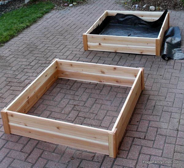 How Build Raised Garden Box Cheap