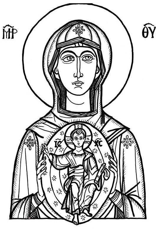 Byzantine Icons Religious Coloring Pages