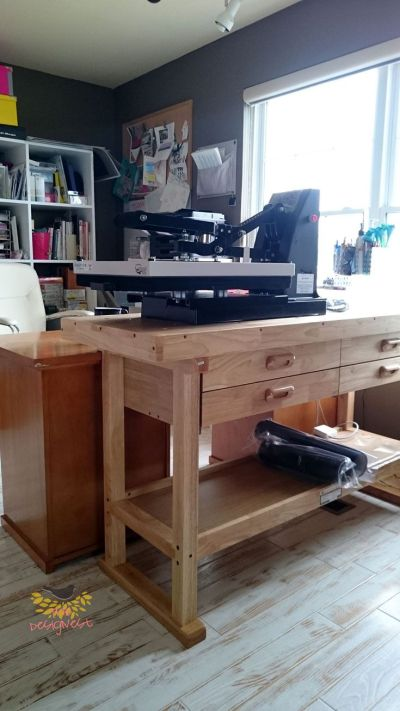 This workbench is great to put a heat press on. | THE ...