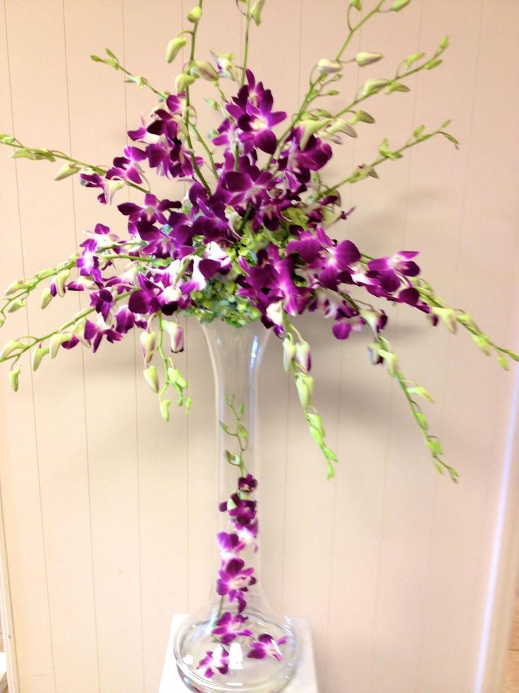 Centerpieces Wedding Carnations Purple