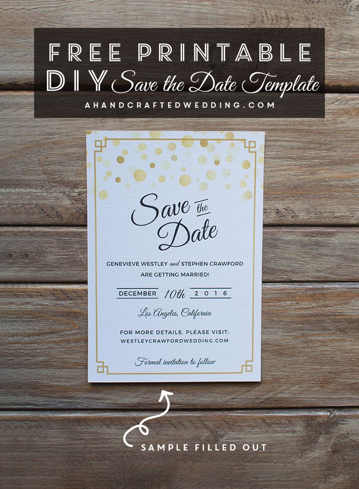 Save Date Cards Unique