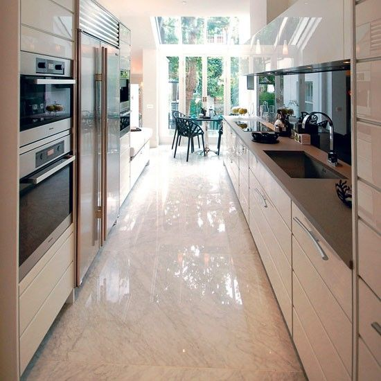 Kitchen Design Long Narrow Room