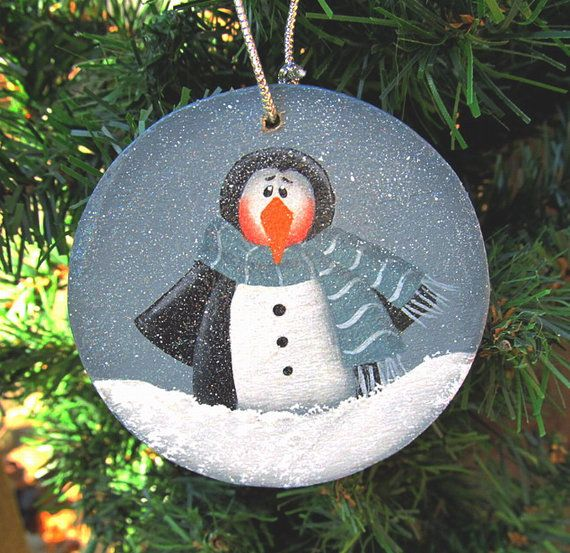 Hand Painted Wood Ornaments