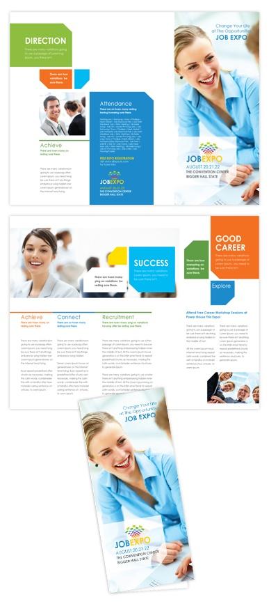 Career Fair Tri Fold Brochure Template Career Fair Tri