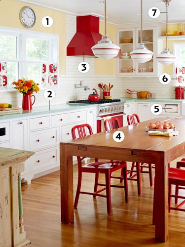 Kitchen Decor Red