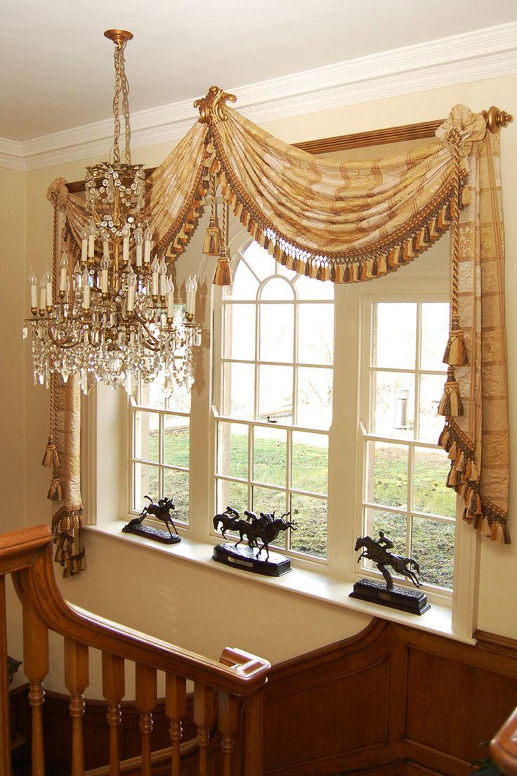 Elegant window treatments swags for Elegant window