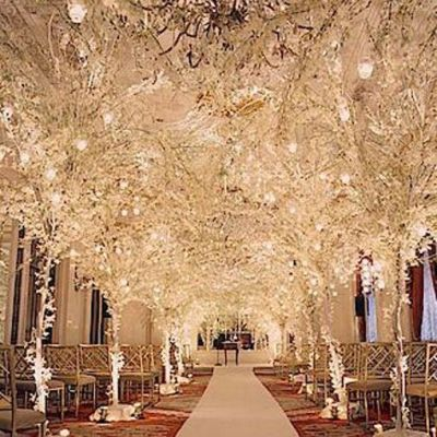 wedding aisle decorations | Winter Wedding Decoration ...