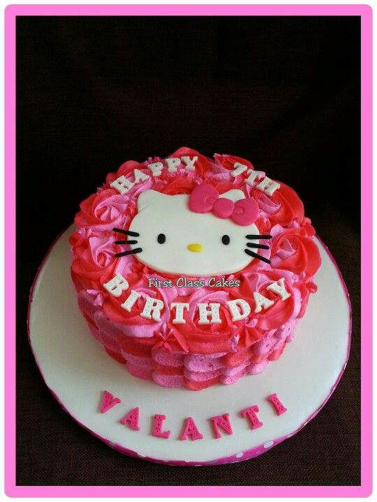 Hello Kitty Buttercream Petals Cake My Cakes Pinterest