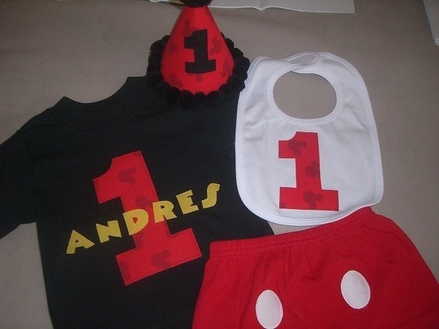 Happy Birthday Baby Mickey Mouse Personalized 1st Hat