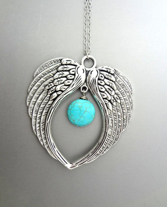 Letter V Necklace Angel Wings