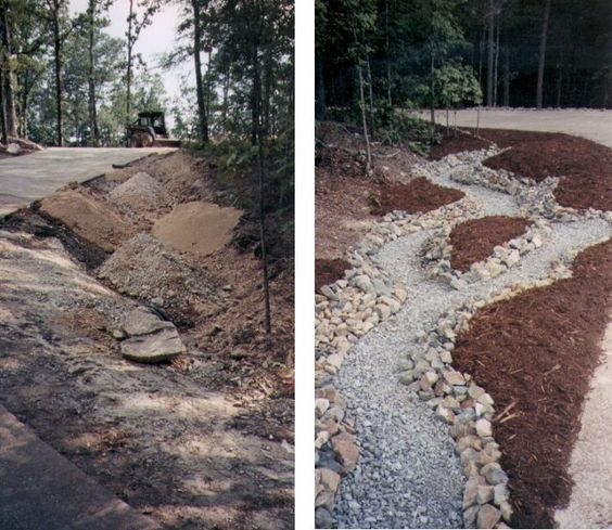 Steep Ditch Landscaping