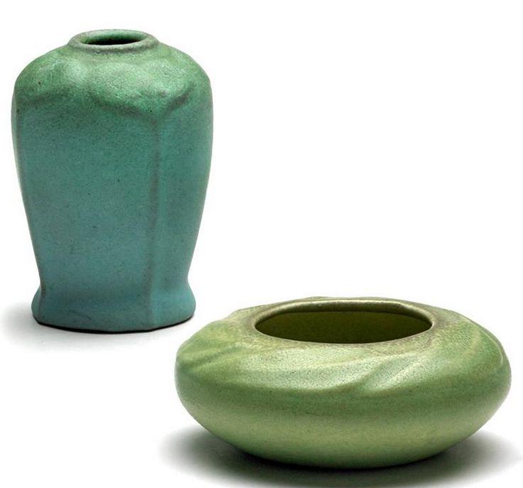 Pottery Van Briggle Despondency Vase