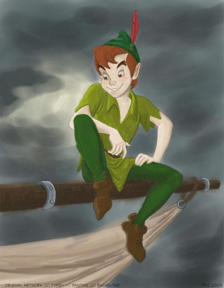 Art Neverland Pan Peter Flying