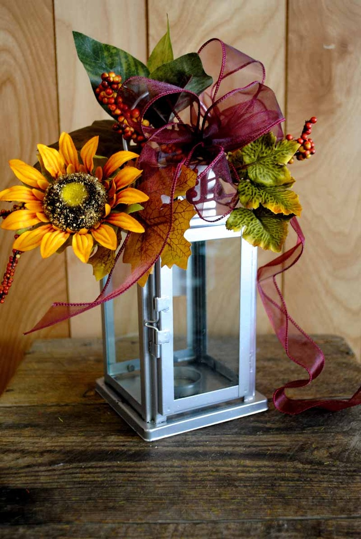 Fall Wedding Lantern Centerpieces