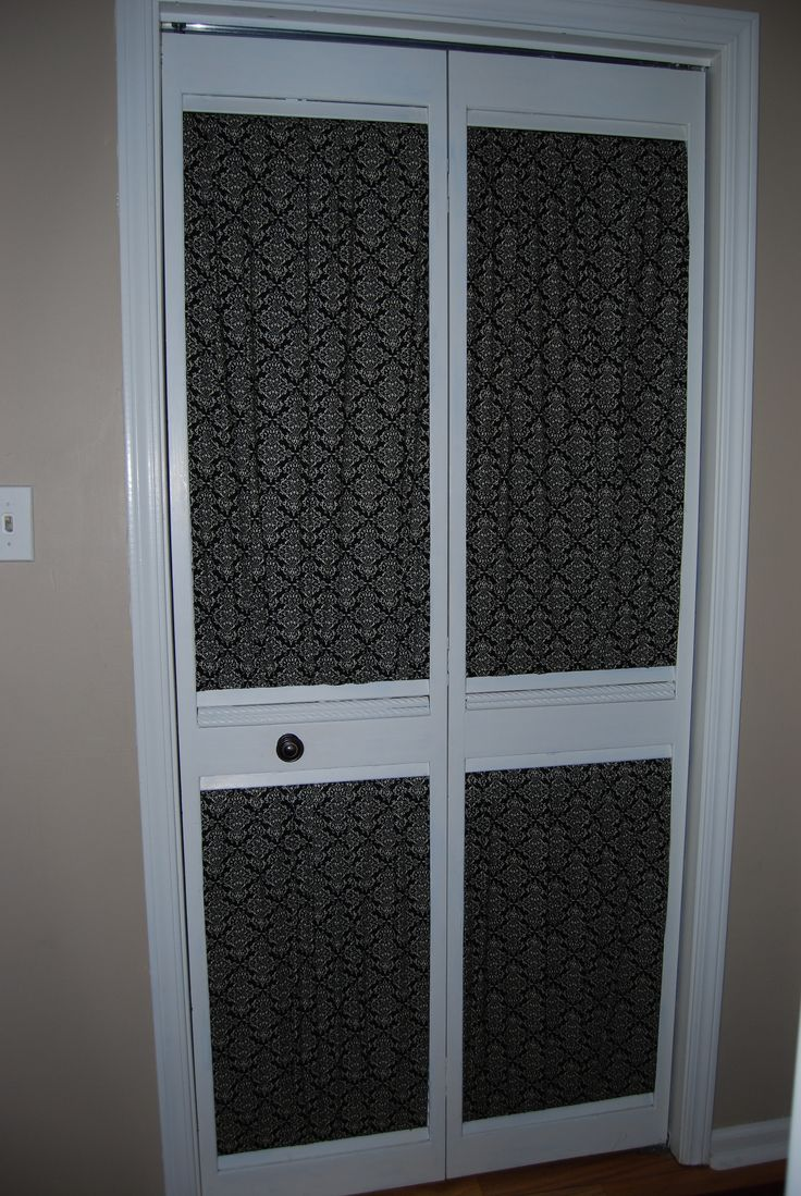 Give An Old Louvered Closet Door A Makeover With Some