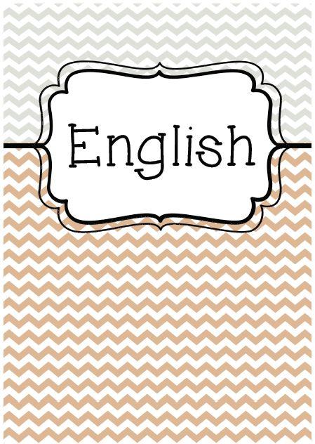 Cute English Binder Covers