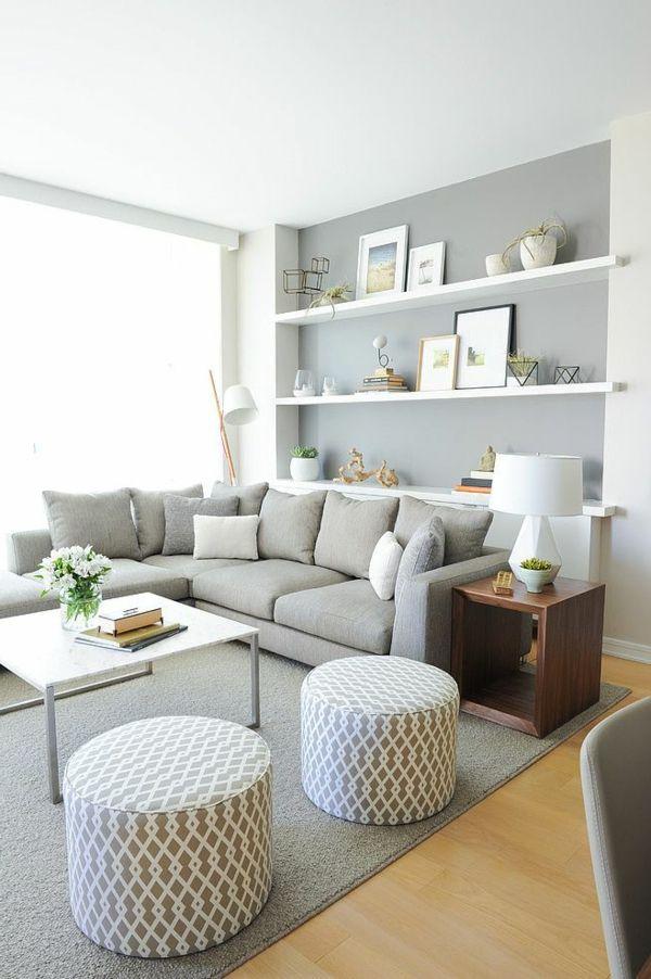 Die besten 17 Ideen zu Graue Wohnzimmer auf Pinterest Grauer couch dekor, Familienzimmer