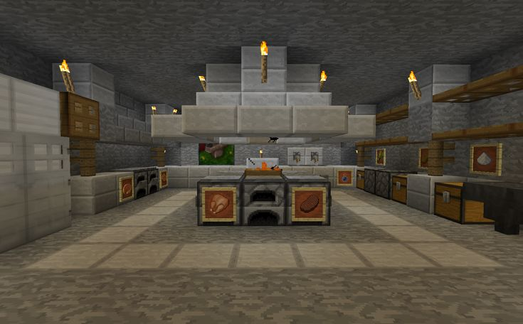 Minecraft Kitchen Blueprints