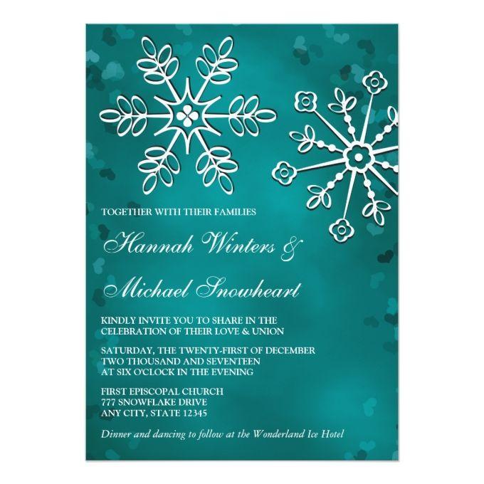Snowflake Invitations Pinterest