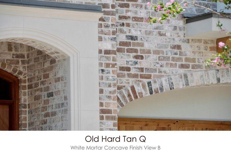 Old Hard Tan Q White Mortar Concave Technique View B